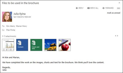 OWA in Exchange 2013 utilizing the new Windows 8 UI interface